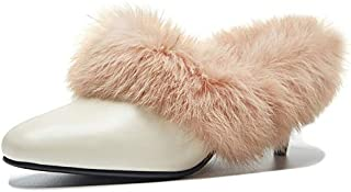 comprar descuentos MENGLTX MENGLTX MENGLTX Sandalias Tacones Altos Moda Marca Mujer Slingbacks Bombas Tacones Altos Otoo Invierno Fiesta Zapatos De Boda Mujer Cuero Genuino Retro Bombas  Felices compras
