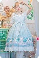 ピンク/ブルー/パープル大サイズ/ロリータドレスかわいいゴシックビクトリア朝プラスサイズロリータファッションかわいいティーパーティー