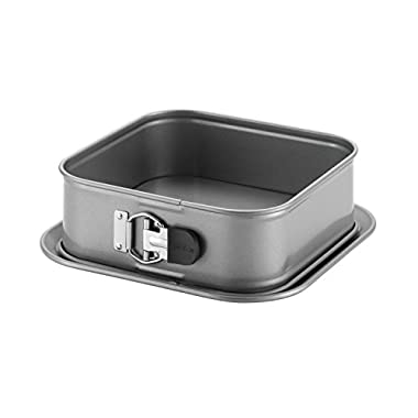 Anolon Advanced Nonstick Bakeware 9-Inch Square Springform Dessert Pan, Gray with Silicone Grip