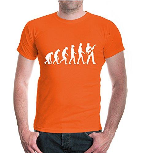 T-Shirt The Evolution of Guitar-L-Orange-White