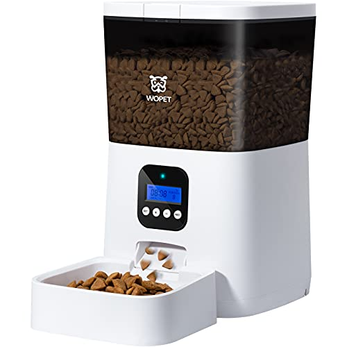 WOPET Automatic Cat Feeder,7L Pet Food Dispenser...