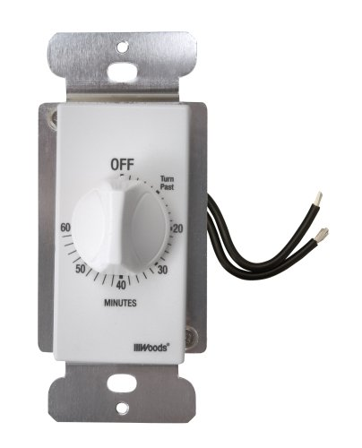 Woods 59717 59717WD WH 60MINUTE Spring Timer, White