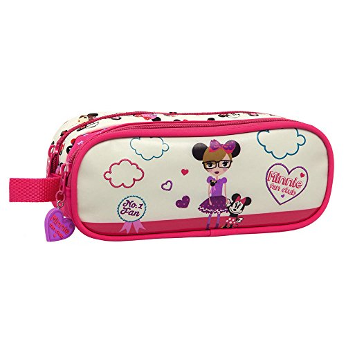 Disney Trousse Deux Compartiments Minnie Fan Vanity, 23 cm, 1,44 L, Blanc