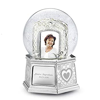 Personalized Loving Memory Musical Photo Snow Globe  Free Engraving  -Things Remembered