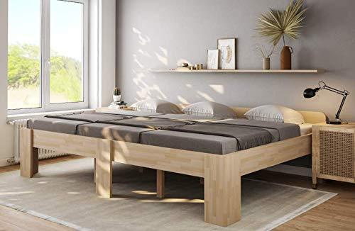 Familienbett Buche Bett für Eltern und Kinder 300x200 Komfortbett - (4142)