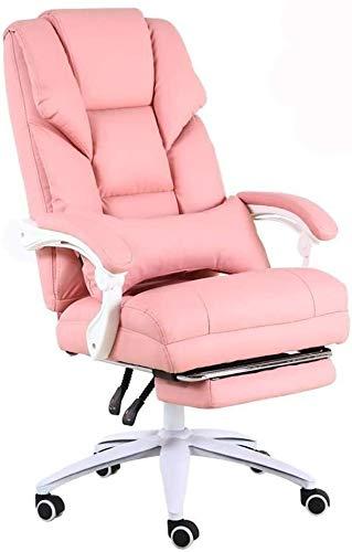 CSD Stuhl Home Office Chair Spiel Live-Chair 170 ° Reclinable Design Komfort Rücken Boss Stuhl Bearing Gewicht 200 kg (Color : Pink)