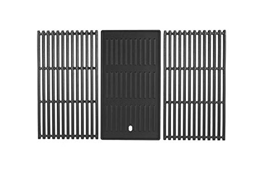 AJinTeby Cast Iron Cooking Grates Grid and Griddle for Charbroil 463242715, 463242716, 463276016, 466242715, 466242815 Gas Grills