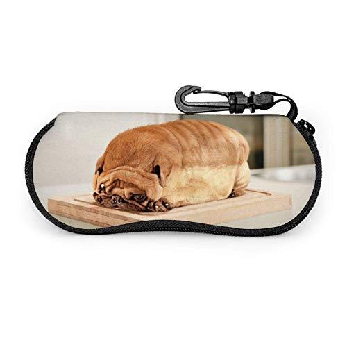 Estuche para gafas Barro amasado, perro, pan Estuche blando para gafas de...