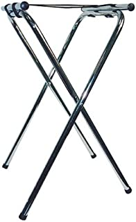 Winco TSY-1A Folding Tray Stand, 31-Inch, Chrome