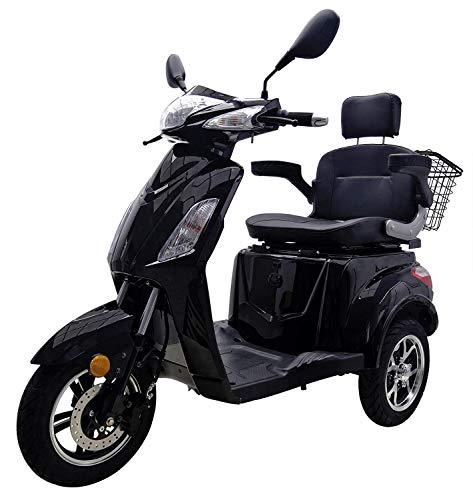 Elektromobil VITA CARE 1000 Li Seniorenmobil begrenzt auf 10km/h E-Roller E-Scooter mit Straßenzulassung ohne Führerschein Elektro Roller, Schwarz