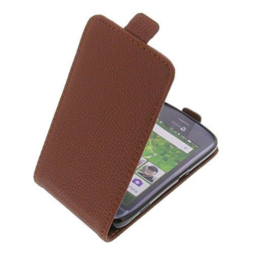 foto-kontor Tasche für Doro Liberto 820 Mini Smartphone Flipstyle Schutz Hülle braun
