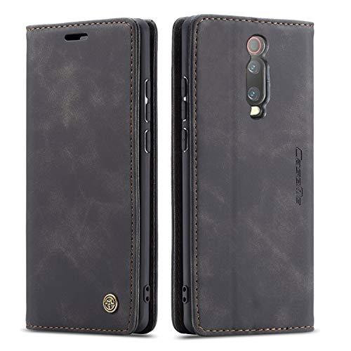 YFXP Kompatibel mit Xiaomi Mi 9T/Redmi K20 Lederhülle Hülle 2 Kartenschlitze mit magnetischem Verschluss Brieftasch-Stil Kartenfach Magnet Hülle