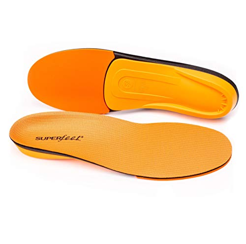 Superfeet Unisex's ORANGE High Arch Support and Forefoot Cushion Orthotic Shoe Inserts for Anti-fatigue Insole,7.5-9 Men / 8.5-10 Women.