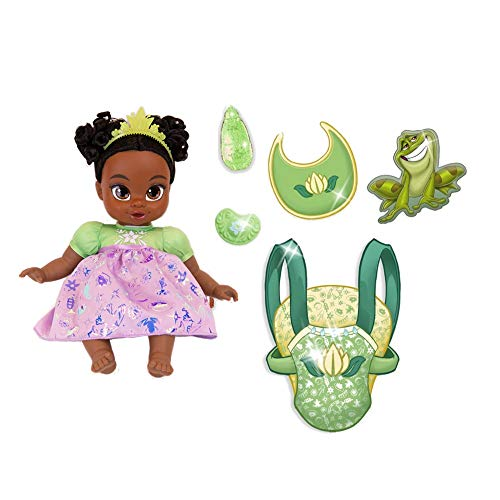 Disney Princess Tiana Baby Doll Deluxe with Carrier & Accessories