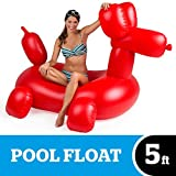 BigMouth Inc. Giant Balloon Animal Pool Float – Gigantic 5 Foot Pool Float, Funny Inflatable Vinyl Summer Pool or Beach Toy, Makes a Great Gift Idea, Patch Kit Included - Holds up to 200 lbs