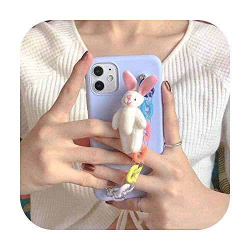 Funda para Samsung Galaxy M31 M21 M11 M30S M20 M10 J8 J6 J4 Plus 2018 J7 J5 J2 Prime J330 Candy Bunny Brazalete con colgante de cubierta suave 1-J7 2016 J710