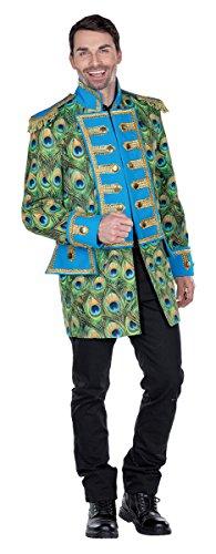 Chaqueta de pavo real para hombre, disfraz de director de circo