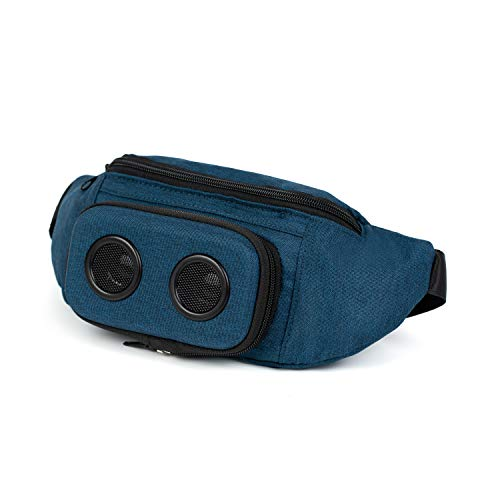 The #1 Fannypack with Speakers. Bluetooth Fanny Pack for Parties/Festivals/Raves/Beach/Boats. Rechargeable, Works with iPhone & Android. #1 Bachelorette Party Gift (Blue, 2019 Edition)