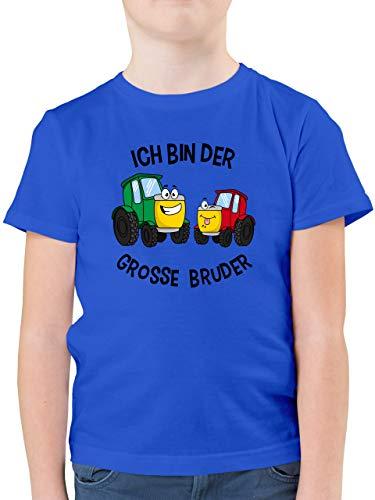 Geschwisterliebe Kind - Ich Bin der Grosse Bruder Traktor - 104 (3/4 Jahre) - Royalblau - Shirt Jungen Geschwister - F130K - Kinder Tshirts und T-Shirt für Jungen