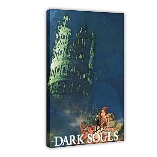 Poster sur toile Game Dark Souls 31 - Décoration murale - Cadre : 30 x 45 cm