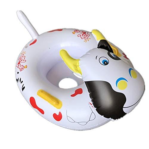 Yqs Schwimmring Wasser-Lache-Schwimmen Kreis Spielzeug Wasserspielzeug Schwimmen Kreis for Kinder (Color : Cow)