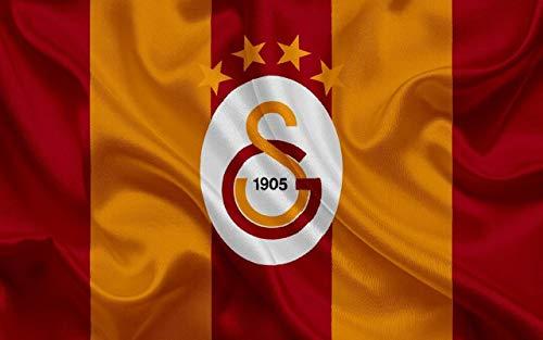 Galatasaray Tortenaufleger, Rechteckig A4 - Geburtstag Tortenbild Zuckerbild Tortenplatte Oblate Kuchenzuckerplatte