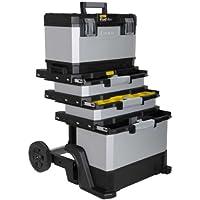 Stanley FatMax Taller de laminado de metal-plástico, 1-95-622 - Carro de herramientas, vacío - Caja de herramientas versátil para piezas pequeñas y grandes