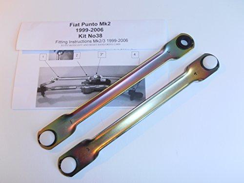 Wipex Kit38 - Set de varillas de empuje para acoplamiento al motor para limpiaparabrisas para Fiat Punto Mk2/3