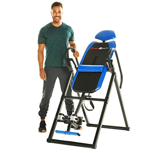 Fitness Reality 2510 690XL Additional Weight Capacity Inversion Table with Lumbar Pillow for Lower Back Support