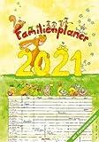 Familienplaner Cartoon - Kalender 2021 - Alpha-Edition-Verlag - Familienkalender mit bezaubernden Illustrationen und 6 Spalten zum Eintragen - 24 cm x 33,8 cm - Spiralbindung