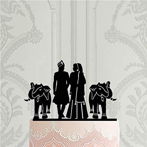Decoración para tarta de boda india con elefantes para boda hindú, boda y cumpleaños