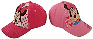 Girls 2 Pack Cotton Baseball Cap: Minnie Mouse, Fancy...