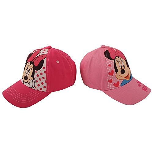 Disney Girls 2 Pack Cotton Baseball Cap: Minnie Mouse, Fancy Nancy, Vamperina (Toddler/Little Girls), Size Age 2-4, Minnie Mouse Pink