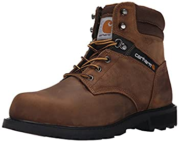 Carhartt Men s Traditional Welt 6  Steel Toe Work Boot Construction Crazy Horse Brown Oil Tanned 12