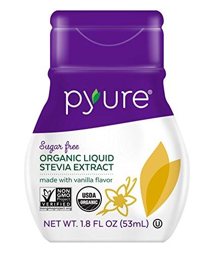 Pyure Organic Liquid Stevia Extract Sweetener, Vanilla, Sugar Substitute, 100 Servings, 1.8 Fl. Oz