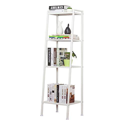 Étagères de Cuisine étagères étagères étagère unité de Rangement étagère avec Crochets en métal ou, Porte-Cuisine, étagères, ganiseur Rack bibliothèque en métal bibl White-40cm