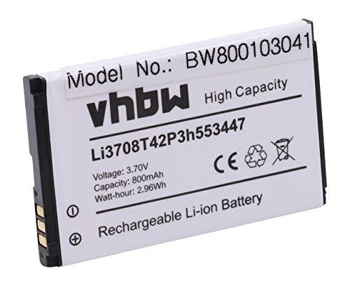 vhbw Akku kompatibel mit ZTE Agent, C70, C78, C88, E520, Essenze, F160 Handy Smartphone Handy (800mAh, 3,7V, Li-Ion)