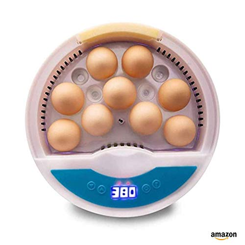 SIMEEGO Egg Incubator, with 9 LED Luminous Egg Candle Tester and Temperature Control Function, Heat Preservation and Water Retention One-Click Heat Preservation, Suitable forChickens, Ducks, Quails