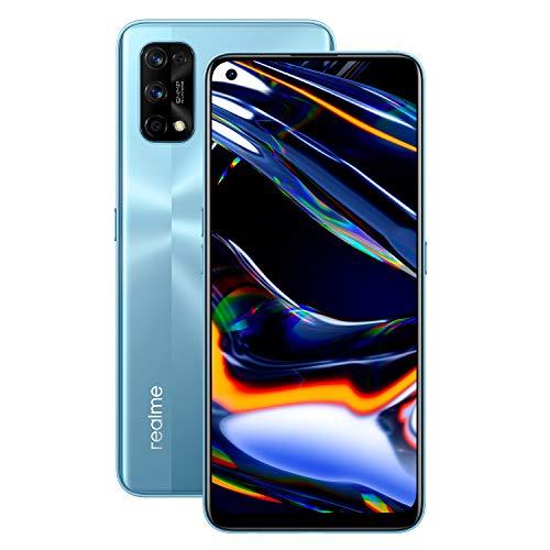 realme - 7 Pro Smartphone de 6.4', 8GB RAM + 128GB ROM, Pantalla SuperAMOLED FHD+, procesador Octa-Core Snapdragon 720G, Carga Super Dart de 60W (Plata Espejo)