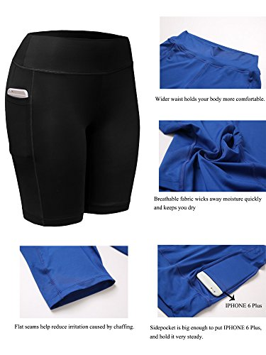 Neleus Women's Workout Compression Yoga Shorts with Pocket
