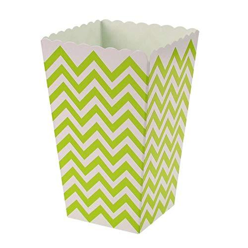 DIAZ 100 stks verjaardagsfeestje geschenken doos gunst snoep traktatie popcorn sanck dozen bruiloft aanbod golf cirkels douche gestreepte kerst, groen