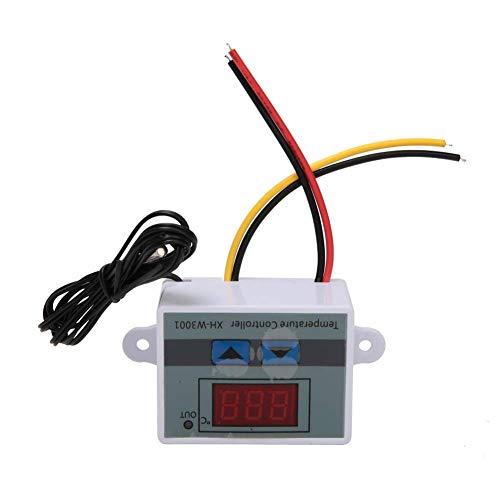 Interruptor de termostato con controlador de temperatura digital con sonda de sensor impermeable, controlador de temperatura XH-W3001 (24 V / 240 W)
