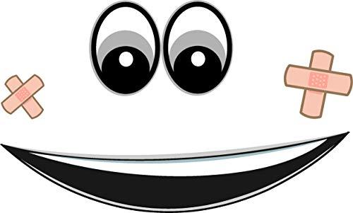 Augen Aufkleber für Saugroboter, Mähroboter Wischroboter Thermomix Sticker Set Roboter (mund,pflaster-augen-grau)