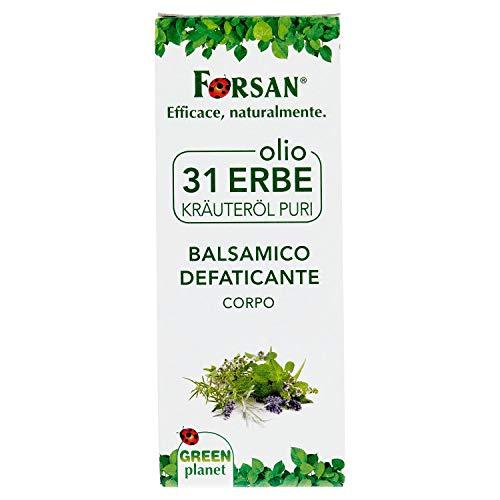 La Tradizione Erboristica Forsan - Olio 31 Erbe Balsamico defaticante, Corpo, 100 ml