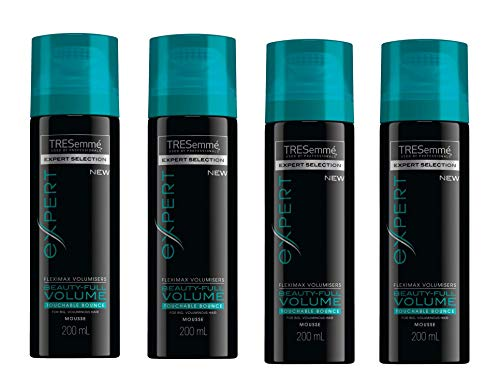 Tresemme BEAUTY-FULL volumen Touchable rebote Mousse 200 ml (Pack de 4)