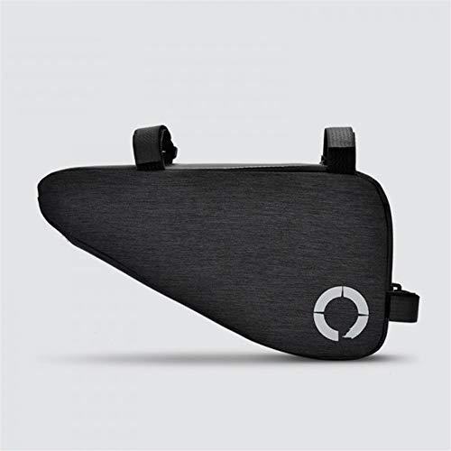 Bolsa de Cuadro de Bicicleta Moto Tubo Superior Bolsos de la Bicicleta del Bolso del triángulo Ciclismo Equipo para MTB al Aire Libre (Color : Black)