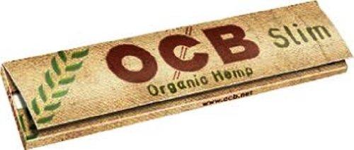 OCB Slim Organic Hemp Zigarettenpapier, King Size, 5Päckchen von Trendz