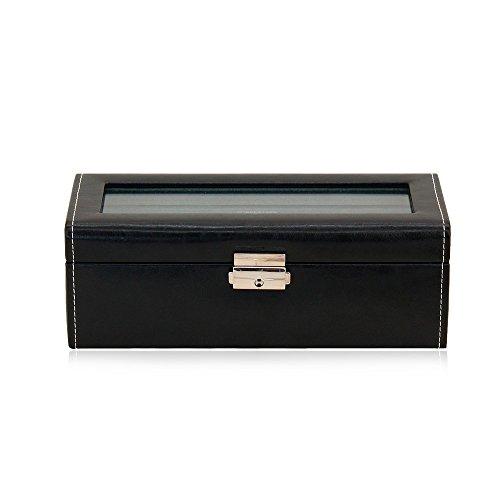 Friedrich Lederwaren Uhrenbox Mit Sichtfenster Bond - Schwarz 4