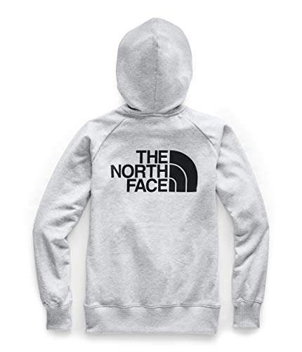 The North Face Women's Half Dome Full Zip Hoodie, TNF Light Grey Heather/TNF Black, XL