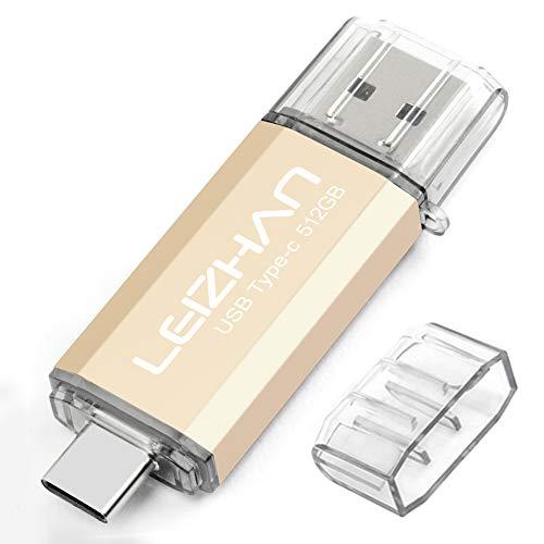LEIZHAN Chiavetta USB Tipo C 512GB,Flash Drive USB 3.0 OTG Memory Stick per Telefono...